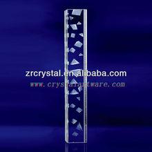 K9 3D pirámide Laser grabado cristal con forma de pilar