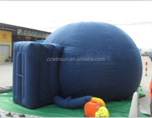 projection screen in dome, planetarium equipment inflatable,blue double layer inflatable planetarium tent for school teaching