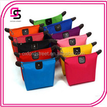 Wholesale Ladies Candy Colored Folding Waterproof Travel Cosmetic Bag