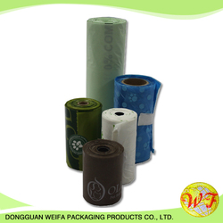 Rolling Form Mini Trash Bag Packaging Bag/customized Design Rolling Bag/colorful Thin Plastic Bag