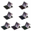 New keyboard cover case for iPad Air2 with detachable keyboard,folio leather case with wireless Bluetooth keyboard black