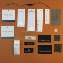 customer's clothing hangtags