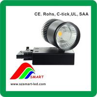 Commercial lighting white/black led track light 25w, new design for gallery/supermarket/shops
