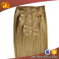 Grade 5A virgin remy claw clip ponytail human hair extension
