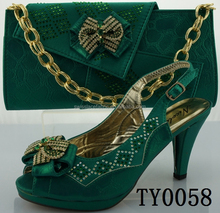 wholesale italian matching shoe and bag high heel