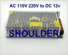 AC 110V/220V to DC 12V Voltage Transformer 12.5A 150W for Led Strip,LED display,Billboard Switch Power Supply Aluminum base