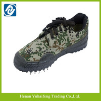 2015 rubber sole safety traing shoes hard-wearing camo shoes