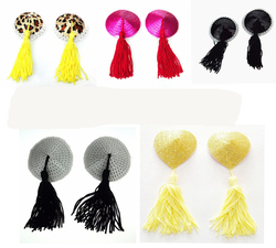 Sexy New Heart Nipple Covers with Tassel woman breast pasties