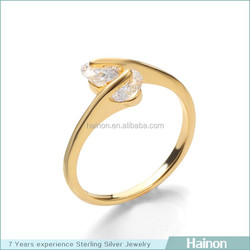 cheap 18k gold plated rings in zircon