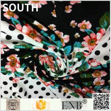 Wholesale Plain Style Anti-Static Flower Border Print Fabric
