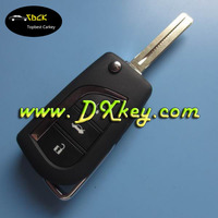 Wholesale flip key covers for Toyota car key covers 3 buttons TOY48 keyway