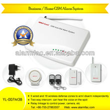 Security&Protection products Wireless GSM SMS house/apartment alarm systems with motion detector