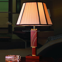 classical Russia style guest room wooden table lamp,pleated shade ancient desk lamp