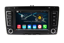 pure android car dvd player with quad-core for Skoda android 4.4.4 system with built-in wifi