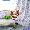 simple flower curtain made of 100% Polyester china manufacturer window curtain