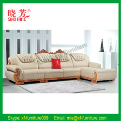 Hot selling alibaba website new product factory price top grain leather sectional sofa furniture