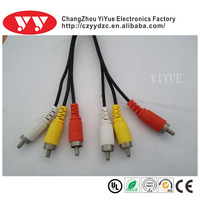 AV Cable 3RCA Male To 3RCA Male RCA Cable Made In China