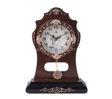 Retro Old Grandfather Pendulum Table Clock for Home Decor