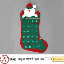 Popular Useful Hanging Felt Santa Calendar, Countdown Calendar for Christmas promotion