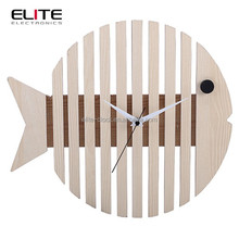 wood owl shape clock in quartz movement