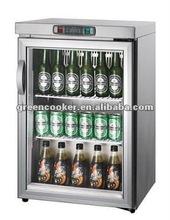 counter top glazed door fridge