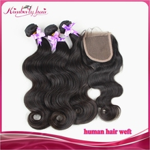 Human hair 4x4 cheap human hair lace closure, virgin hair bundles with lace closure