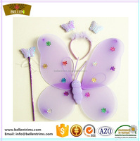 Party butterfly wings with hair hoop and magic wand