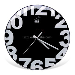 12 inch round arched glass wall clock modern design 904