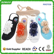 New collection mould nice lady women and girl jelly flower sandals