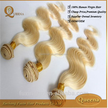 2015 New Products For Distribution Hair Extension 7A Blonde Curly Bohemian Weave Hair
