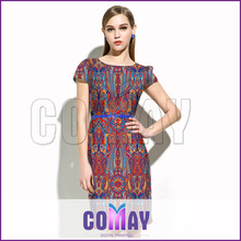 Made in China 2015 knee-length latest malaysia traditional dress