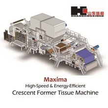 2850/900m/min Crescent Former Tissue Paper-making Machine with most advanced Italy Comer technology