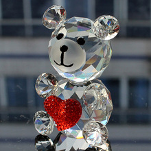 2015new design crystal teddy bear for wedding gift