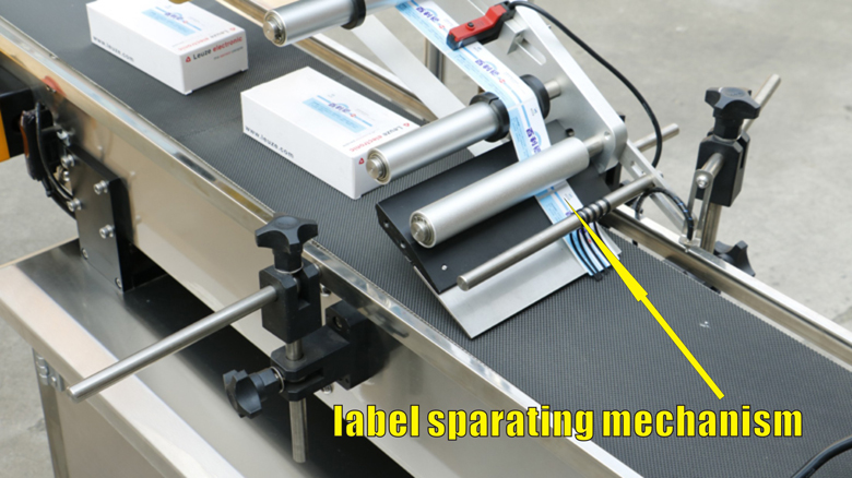 label sparating mechanism