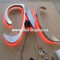 rear light letter led sign 3D illuminate acrylic sign with car paint