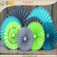 new years eve decorations customized Recycled Pinwheels Paper Flowers Party Decoration Kit
