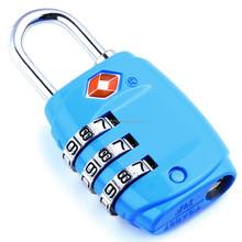 TSA 007 Bulk Locks /combinatioan TSA padlock 3 digital Unique Design Manufacturer Customized Design Combination TSA Lock