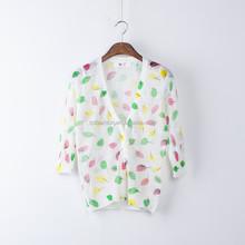 2015 Top sale 80%Linen20%Silk 1/2 sleeve sunscreen women cardigan sweater ladies fancy front short back long french knitting