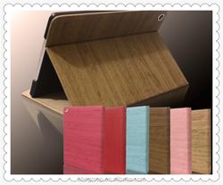 Luxury Stand PU Leather Case For ipad mini 1 / 2 Silk Slim Transparent Smart Back Cover for apple ipad Mini2 Mini3