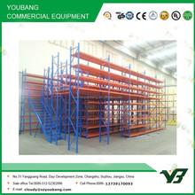Hot sell best price heavy duty multi lever steel structure warehouse storage mezzanine rack /steel platform rack (YB-WR-C49)