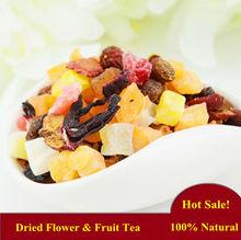 100% Natural Blended Dried Fruit & Flower Flavor Tea