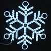 LED light leading factory sale high quality 3d handmade metal snowflake ornaments