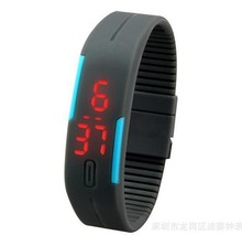 man Sport LED Watches Women Candy Color Silicone Rubber Touch Screen Digital Watch