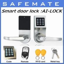 Smart design electrical keyboard automatic wireless remote control door lock