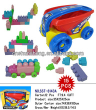 juguetes de bloques de bricolaje coche shunsheng ladrillos conjunto de grandes bloques de construcción de juguete