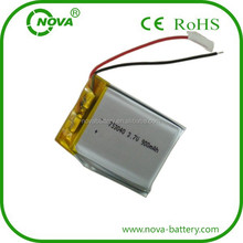 753040 lipo battery 3.7v 900mah li-ion rechargeable battery