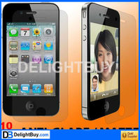 (Front + Back) Matte Screen Protector For iPhone 4S 4 Anti Glare Screen