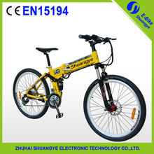 "new design 1:1 PAS 24 speed 26"" folding electric dirt bike 36v"