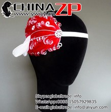 Best selling plume crafts factory wholesale bridal headband Red and White Feather Headpiece with Crystal