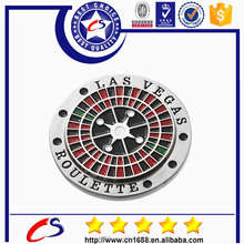 high quality metallic round shape custom token coins